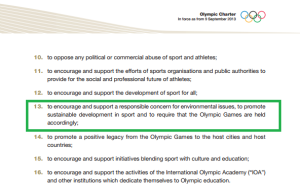 Olympic Charter, chapter 1, par. 2.13 (Mission and Role of the IOC)